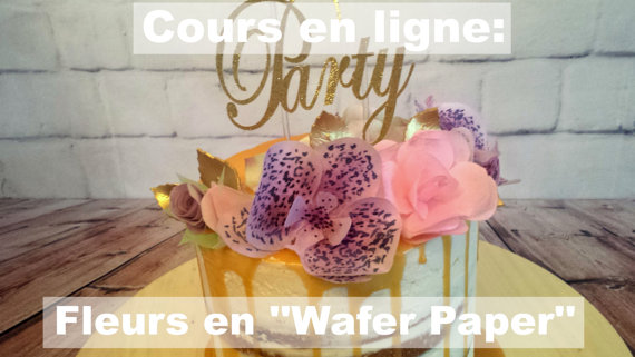 cours de fleurs en wafer paper