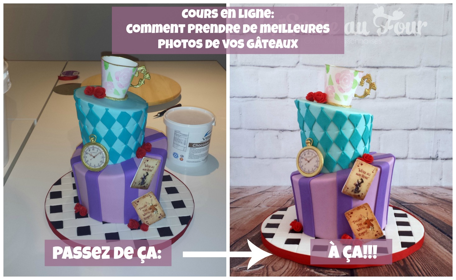 cours de cake design en ligne: Prendre de meilleurs photos de vos gâteaux