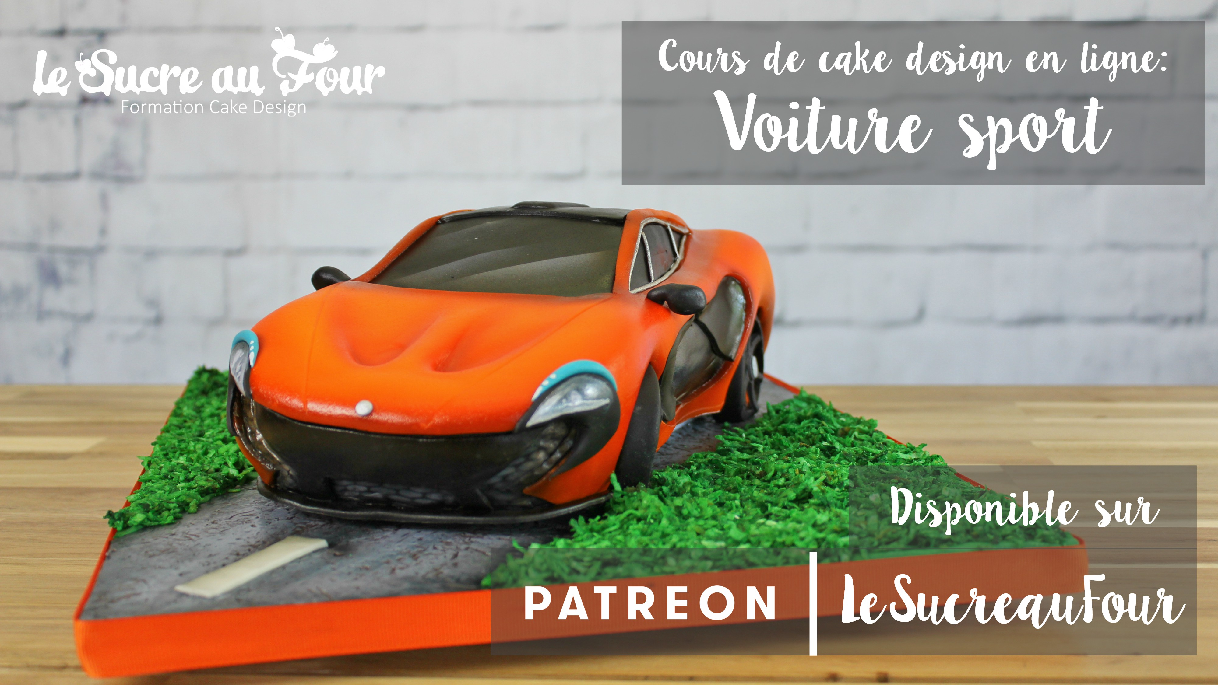 cours de cake design en ligne voiture de sport le sucre au four. Black Bedroom Furniture Sets. Home Design Ideas