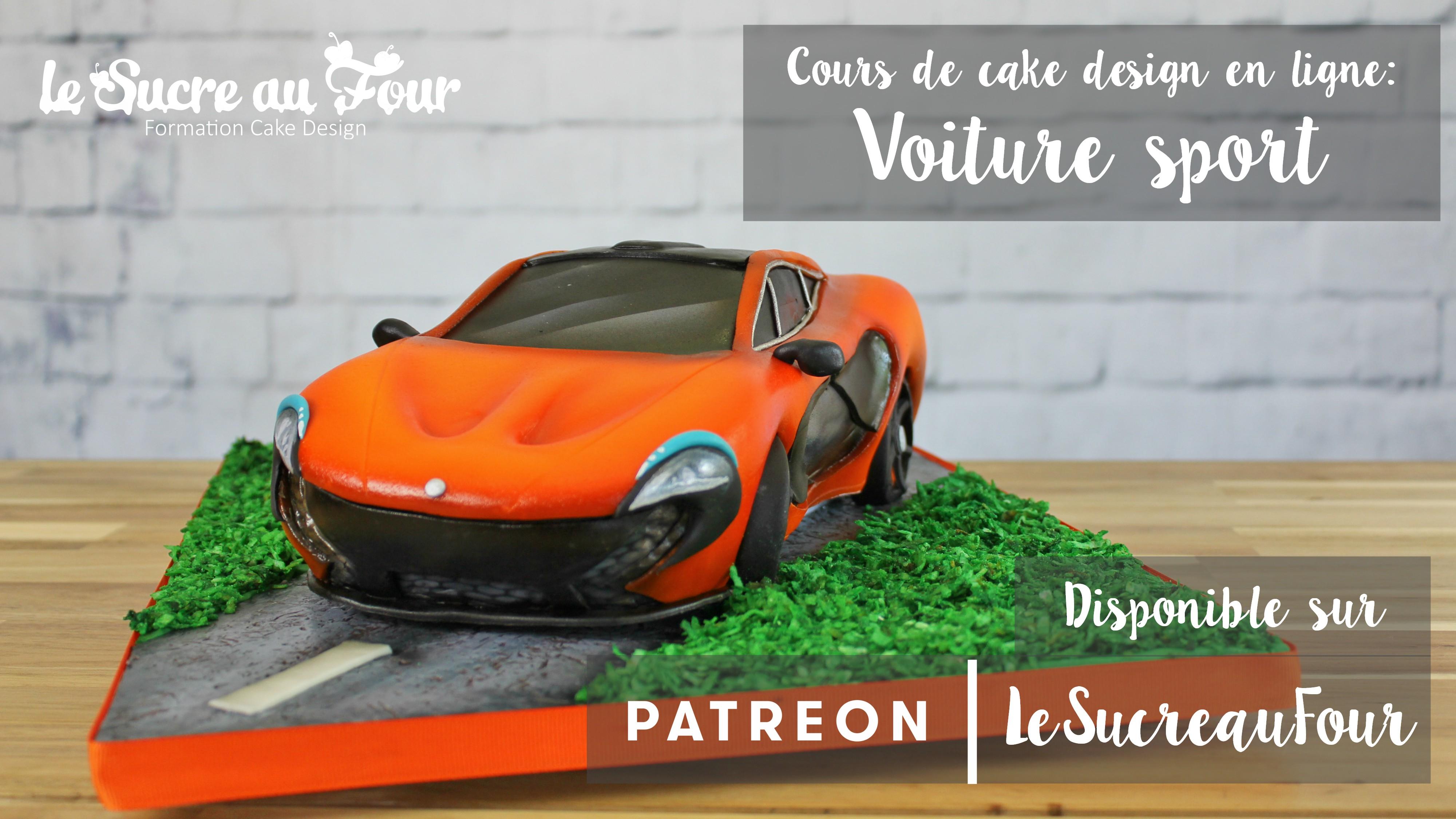 cours de cake design en ligne voiture de sport le sucre. Black Bedroom Furniture Sets. Home Design Ideas