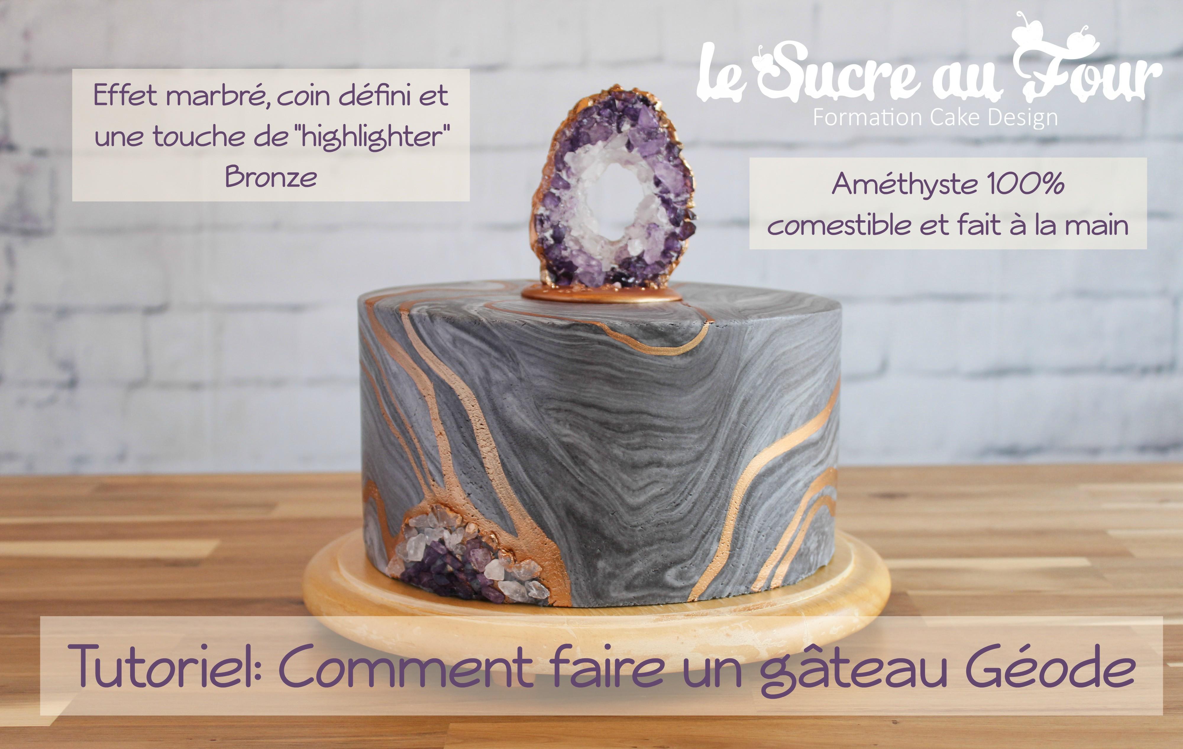 Cours de cake design en ligne l 39 am thyste en isomalt le for Cours de design