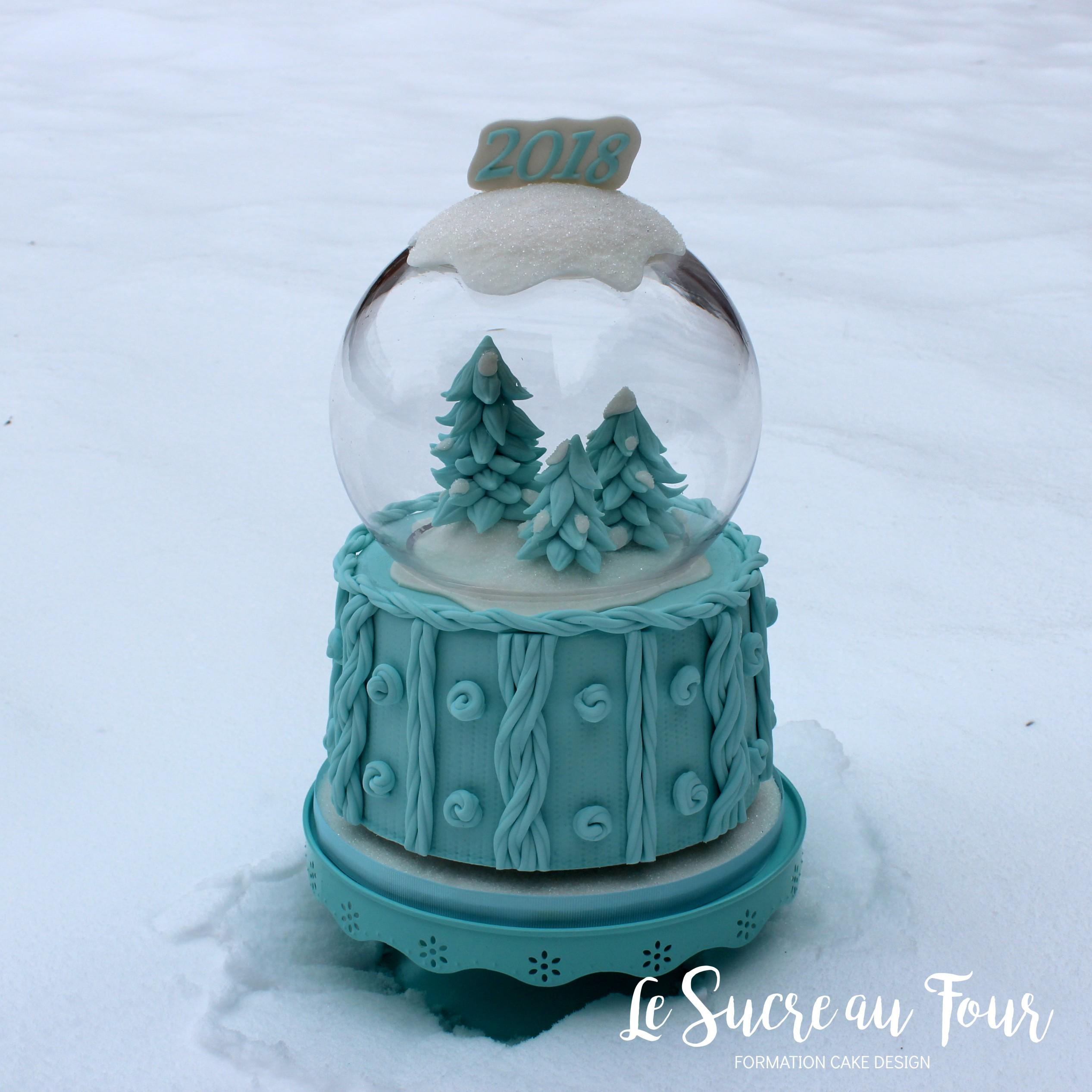 Comment Faire Des Boule A Neige cours cake design en ligne: gâteau boule de neige