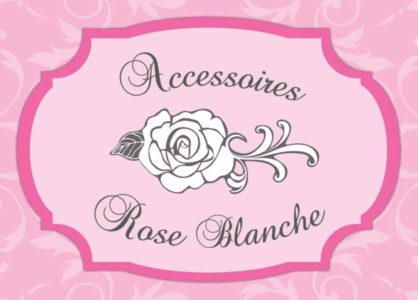 accesssoires rose blanche