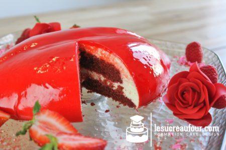 Gâteau en forme de lèvre pour la Saint-Valentin
