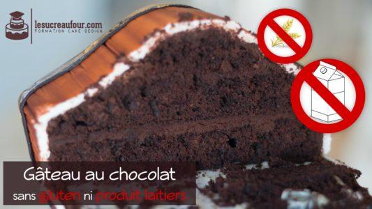 recette gâteau chocolat sans gluten ni produits laitiers