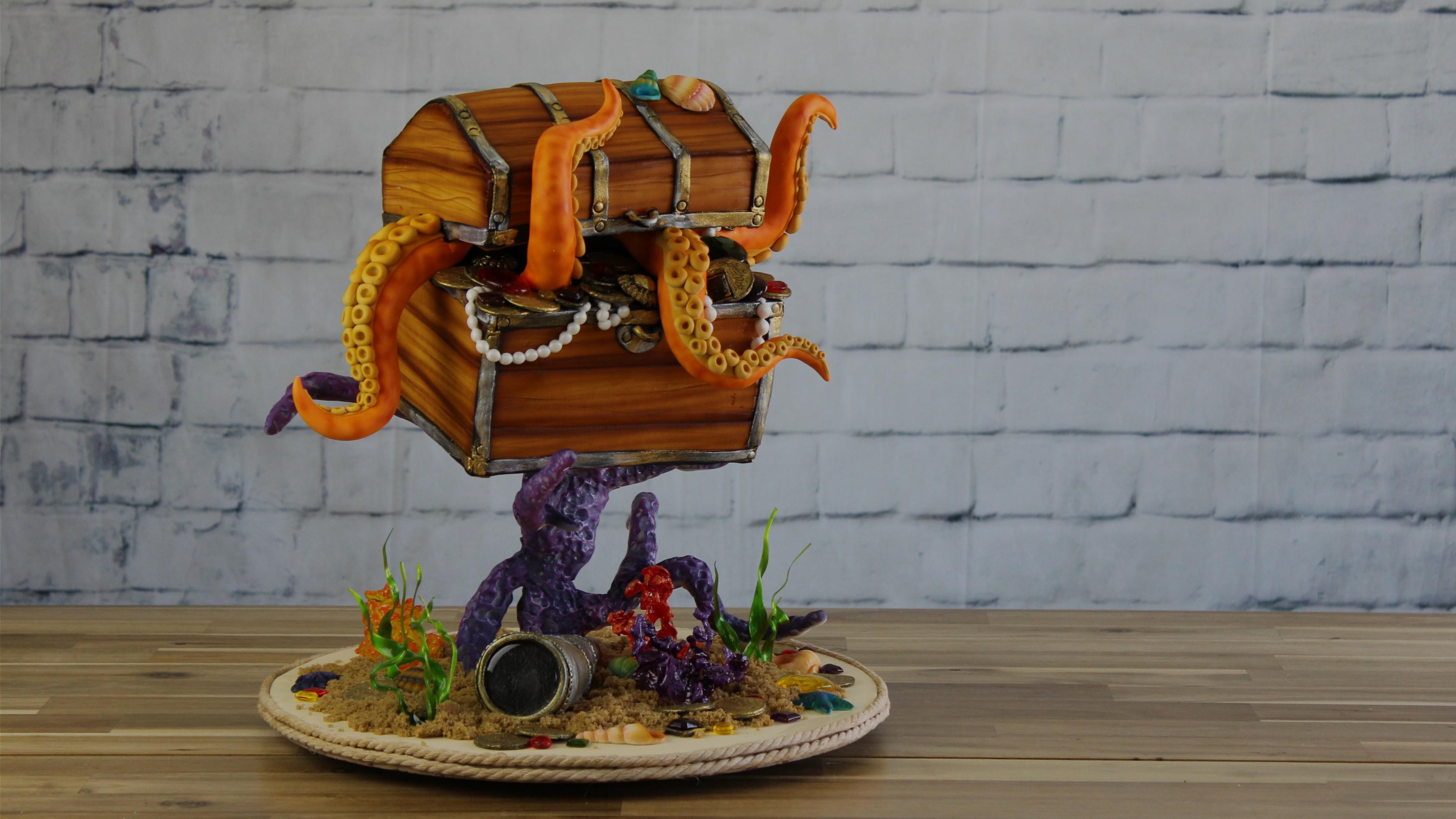 cours de cake design en ligne: trésor du kraken
