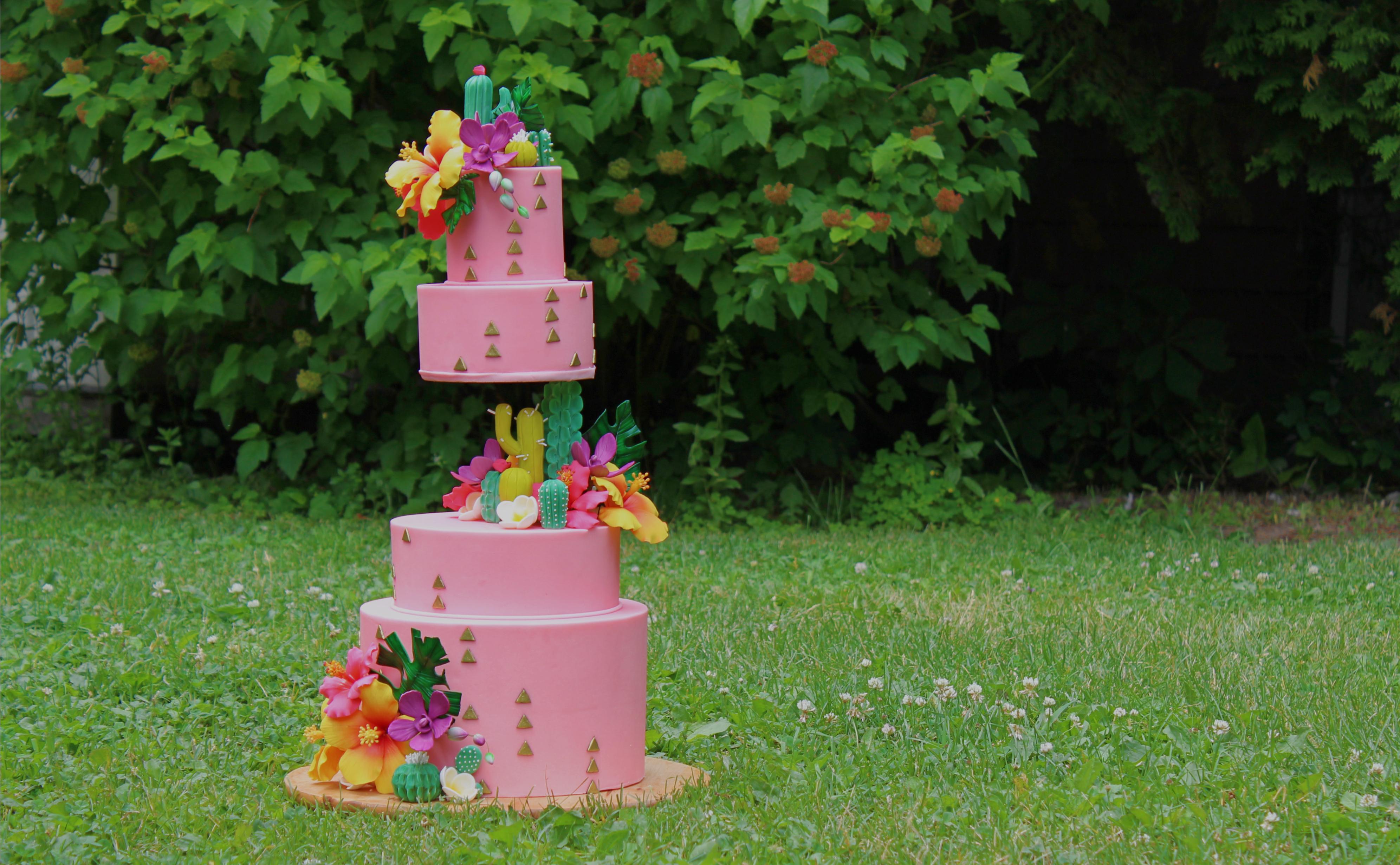 cours de cake design en ligne tropical hibiscus