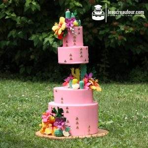 cours cake design tropical