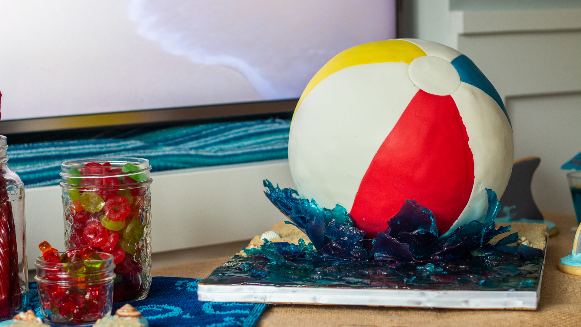 gâteau de ballon de plage 3D