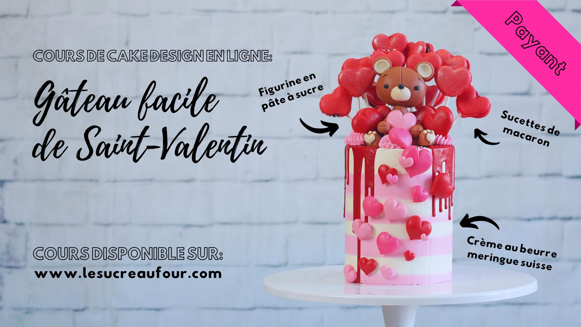 Cours de cake design en ligne gateau saint-valentin facile