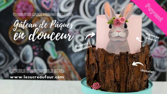 cours cake design en ligne lapin pâques